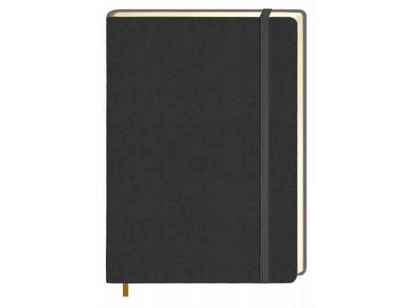 Діловий щоденник Поліграфіст А5 В241/1 шт.шкіра НА ГУМЦІ, м'яка обкл. сірий лінія