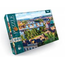Пазл Danko Toys 1000 ел. CHARLES BRIDGE OVER VLTAVA RIVER (КАРЛІВ МІСТ) 475*680мм.