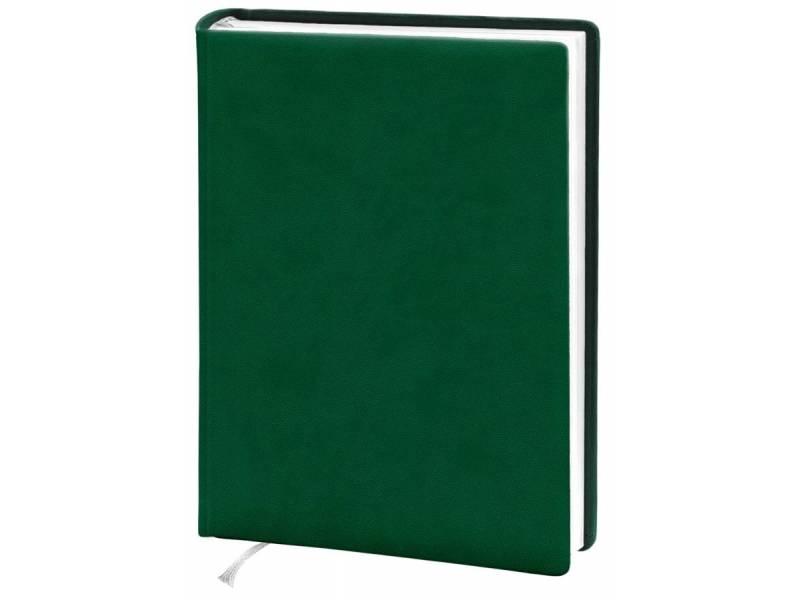 Діловий щоденник Поліграфіст А5 В232 шт.шкіра, зелений лінія