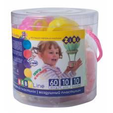 *повітряний пластилін Zibi 10кол.+3форми+3стеки в тубусі