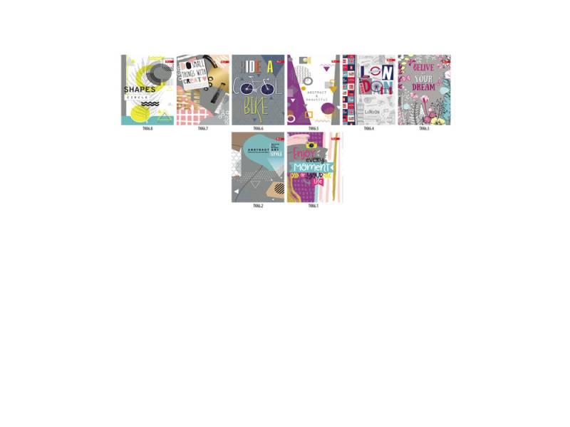 Блокнот Скат ЗК-31 ТВОРЧИЙ картон. обкл. клейовий, блок геометрія А6, 48л