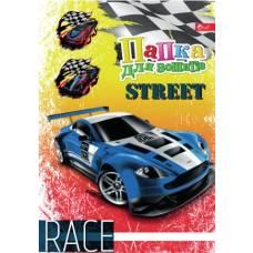 для зошитів Скат ламінована на гумках B5 STREET RACE
