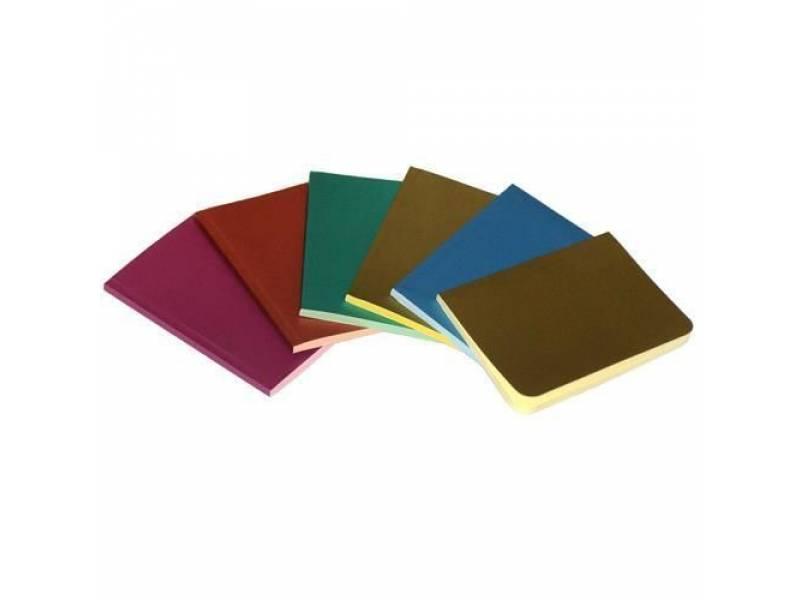 Блокнот Скат ЗК-24 METALLIC картон. обкл. клейовий, чистий кол. блок А6, 50л