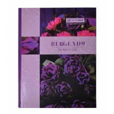 Книга комірна Бюромакс 96л BOHO CHIC твердий лак, фіолетова