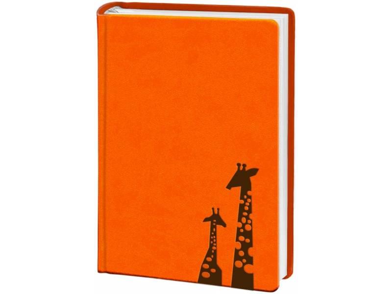 Діловий щоденник Поліграфіст А6 В237 шт.шкіра ТИСНЕННЯ, помаранчевий клітинка