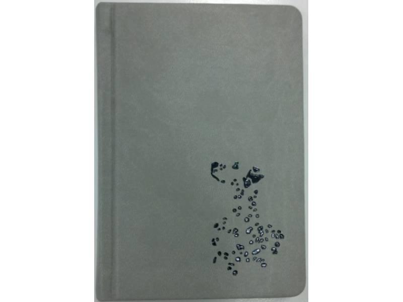 Діловий щоденник Поліграфіст А6 В237 шт.шкіра ТИСНЕННЯ, сірий клітинка