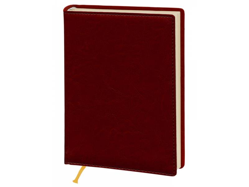 Діловий щоденник Поліграфіст А5 В241/1 шт.шкіра NEBRASKA, червоний (КРЕМОВИЙ) лінія