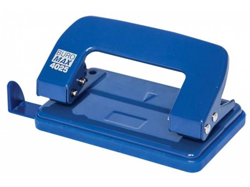 Діркопробивач Buromax (4025) металевий, 10арк. синій