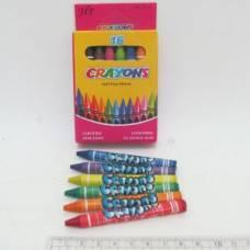 Олівці воскові Crayons 16кол.