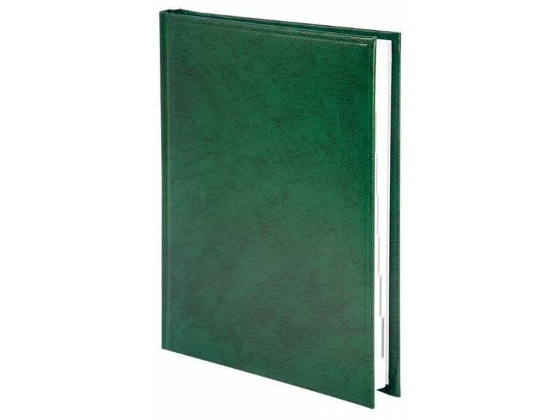 Діловий щоденник Buromax А5 BASE (тип Miradur) зелений лінія