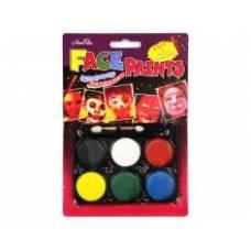 Фарби для обличчя LK №21839-7 6кол. зі спонджем