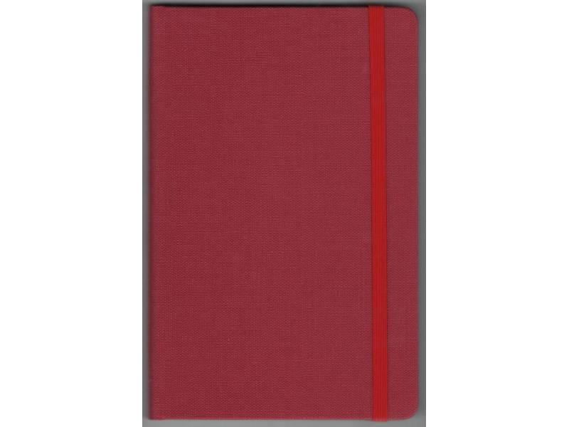 Блокнот Поліграфіст А5 234/1 баладек на гумці 128л, кремовий блок, червоний лінія