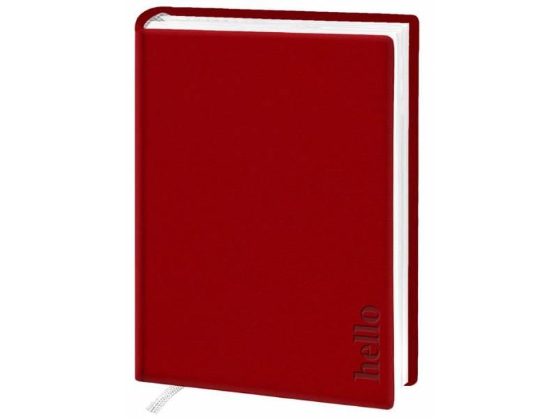 Діловий щоденник Поліграфіст А6 В237 шт.шкіра ТИСНЕННЯ, червоний клітинка