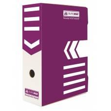 Бюромакс А4 100мм, фіолетовий