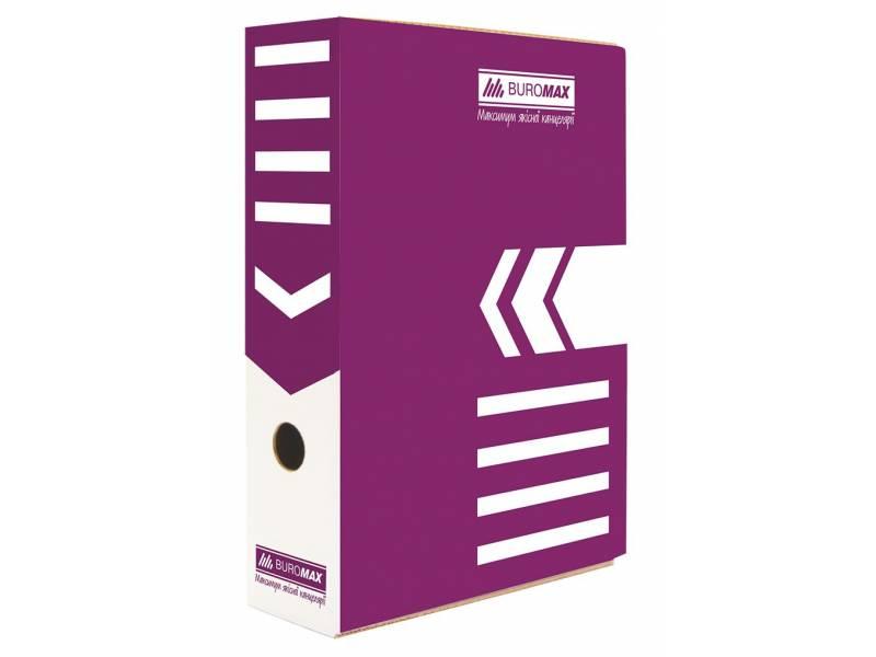 Бюромакс А4 80мм, фіолетовий