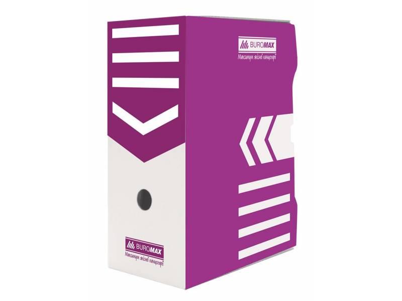 Бюромакс А4 150мм, фіолетовий
