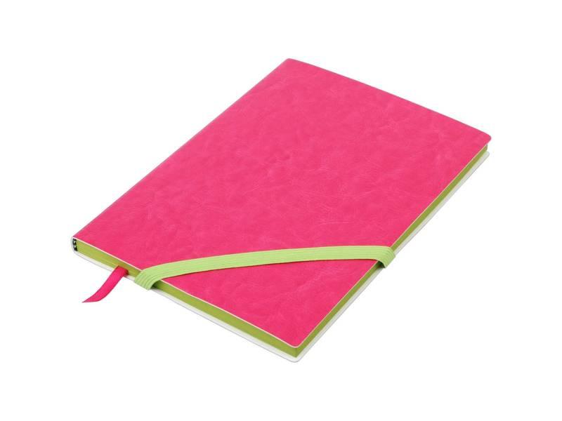Блокнот Buromax діловий LOLLIPOP A5 96л лінія, штучна шкіра, рожевий