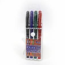Ручки у наборі гелеві Joseff Otten №777EB 4шт. (КОЛЬОРОВИЙ КОРПУС)