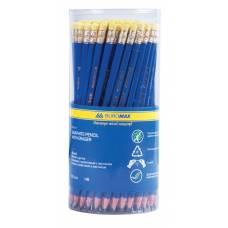 Олівець графітний Buromax з гумкою, пластиковий тип CONTE