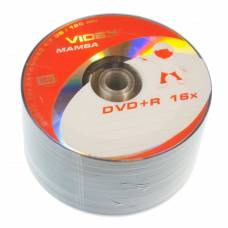 Диск DVD+R Videx MAMBA 4.7Gb bulk 50 16x