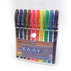 Ручки у наборі гелеві Joseff Otten №777EB 10шт. (КОЛЬОРОВИЙ КОРПУС)
