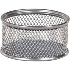 Підставка канцелярська Buromax металева для скріпок 80*80*40мм, срібло