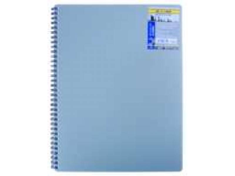 Бюромакс CLASSIC A6 80л, спіральний, пластик, обкл, сірий