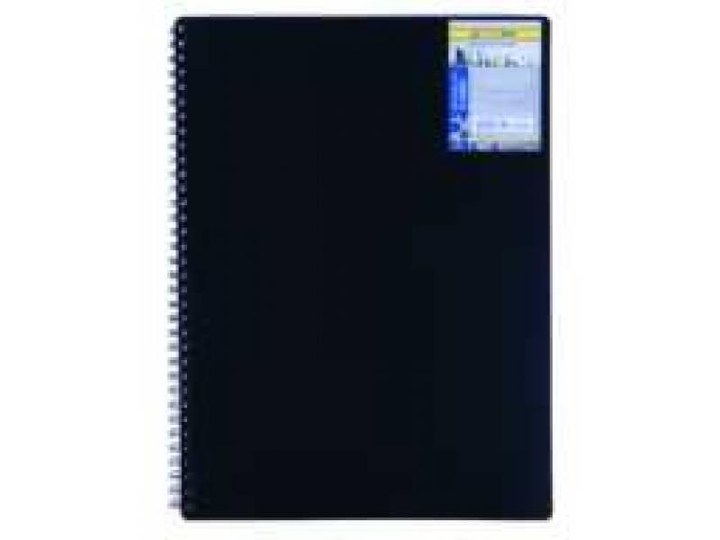 Бюромакс CLASSIC A6 80л, спіральний, пластик, обкл, чорний