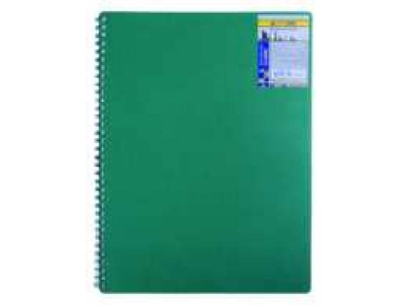 Бюромакс CLASSIC A6 80л, спіральний, пластик, обкл, зелений