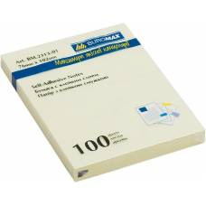 Стікери Buromax 76*102мм 100л. жовті