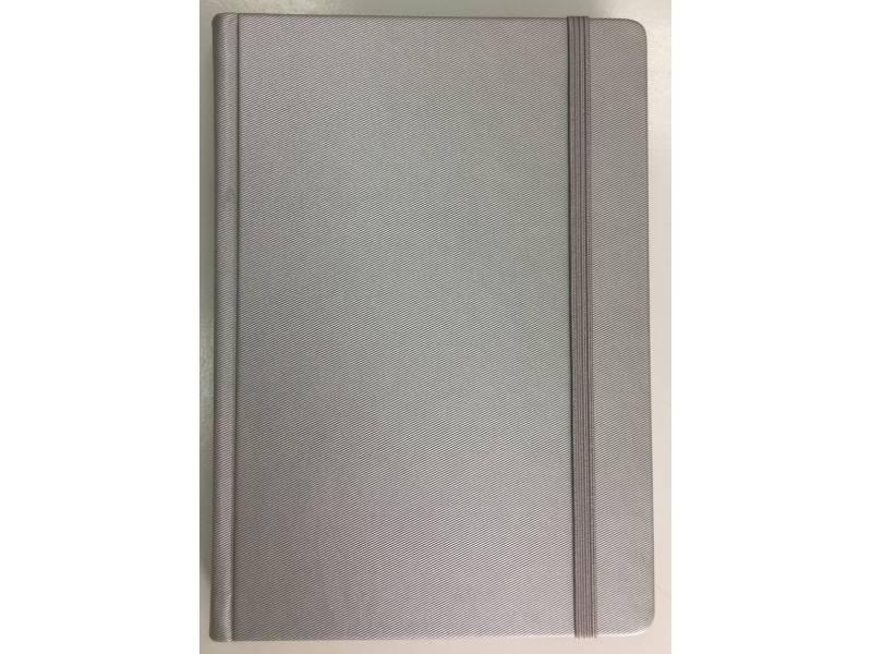 Діловий щоденник Поліграфіст А5 В241/1 шт.шкіра TWILL НА ГУМЦІ, срібло лінія
