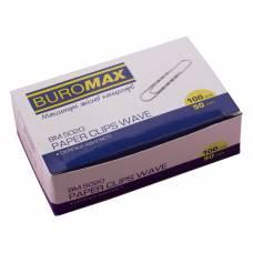 Скріпки Buromax 50мм рельєфні 100шт