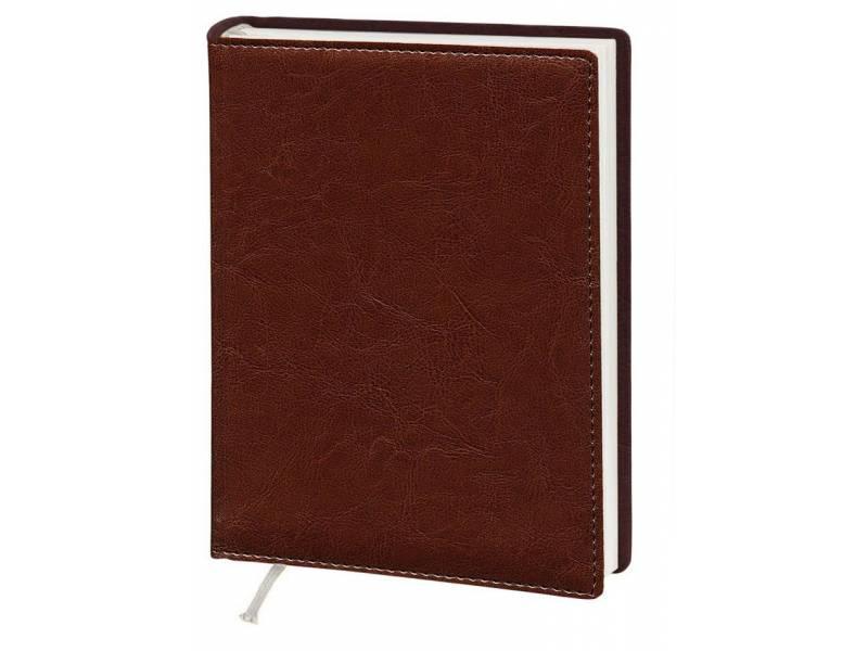 Діловий щоденник Поліграфіст А5 В241 шт.шкіра NEBRASKA, коричневий лінія