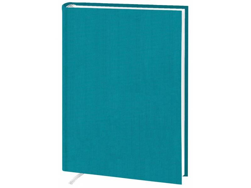 Діловий щоденник Поліграфіст А5 В239 баладек KASHMIR, бірюзовий клітинка