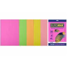 набір Buromax 20л мікс NEON (неонові кольори)
