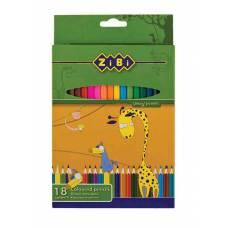 Олівці кольорові *Zibi STANDART 18кол.