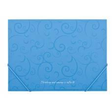 Папка пластикова на гумках Buromax A4 BAROCCO, блакитна