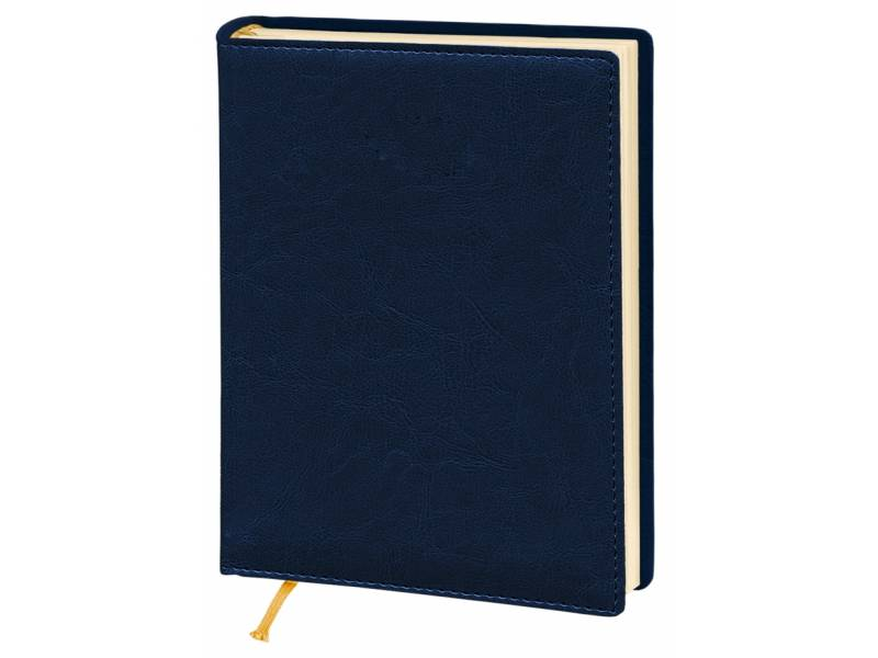 Діловий щоденник Поліграфіст А5 В241/1 шт.шкіра NEBRASKA, синій (КРЕМОВИЙ) лінія