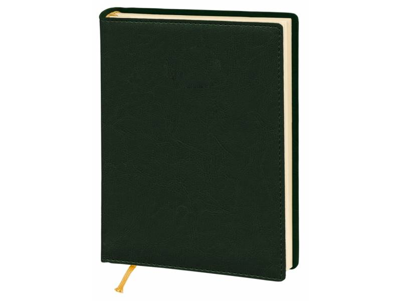 Діловий щоденник Поліграфіст А5 В241/1 шт.шкіра NEBRASKA, зелений (КРЕМОВИЙ) лінія