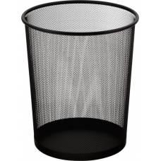 Кошик для паперу Buromax металева, кругла 295*295*345мм, чорна