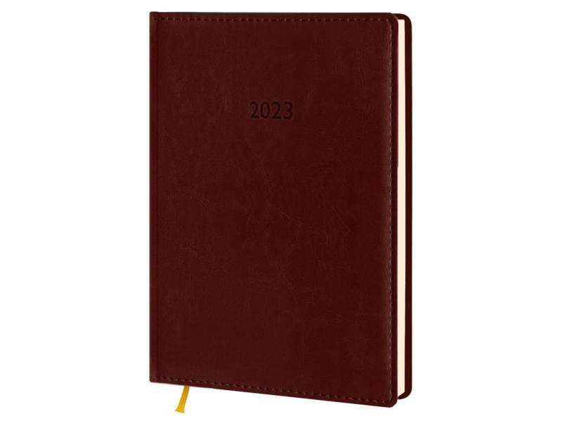 Діловий щоденник датований Поліграфіст В240/1 (21) NEBRASKA шт.шкіра, коричневий (КРЕМОВИЙ)