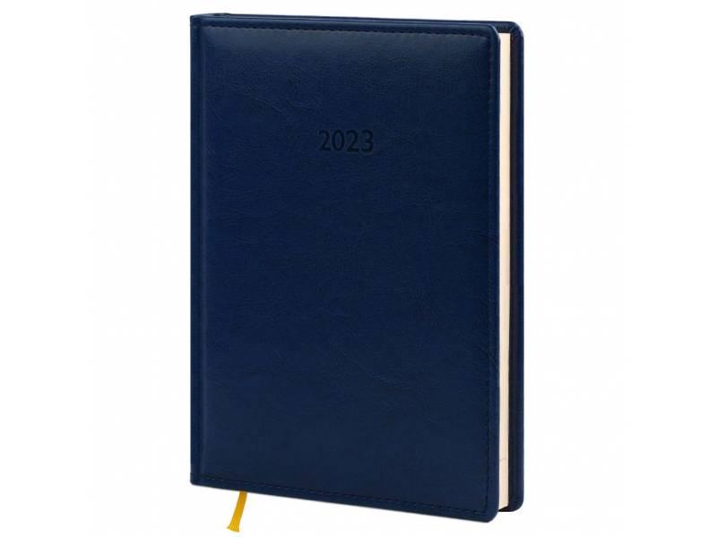 Діловий щоденник датований Поліграфіст В240/1 (21) NEBRASKA шт.шкіра, синій (КРЕМОВИЙ)