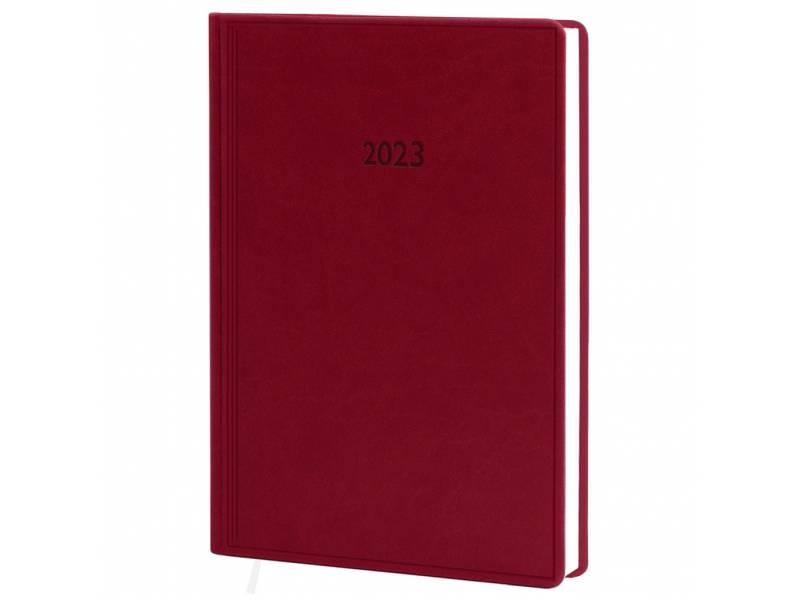 Діловий щоденник датований Поліграфіст В240 (20) VIVELLA шт.шкіра, бордовий