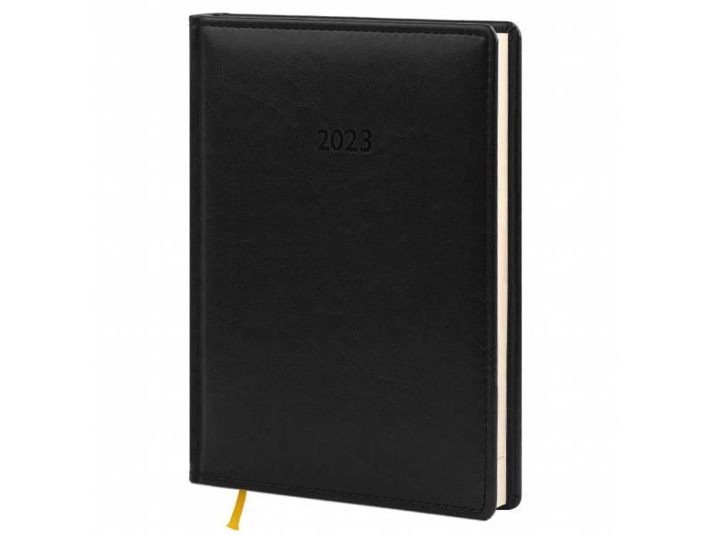 Діловий щоденник датований Поліграфіст В240/1 (21) NEBRASKA шт.шкіра, чорний (КРЕМОВИЙ)