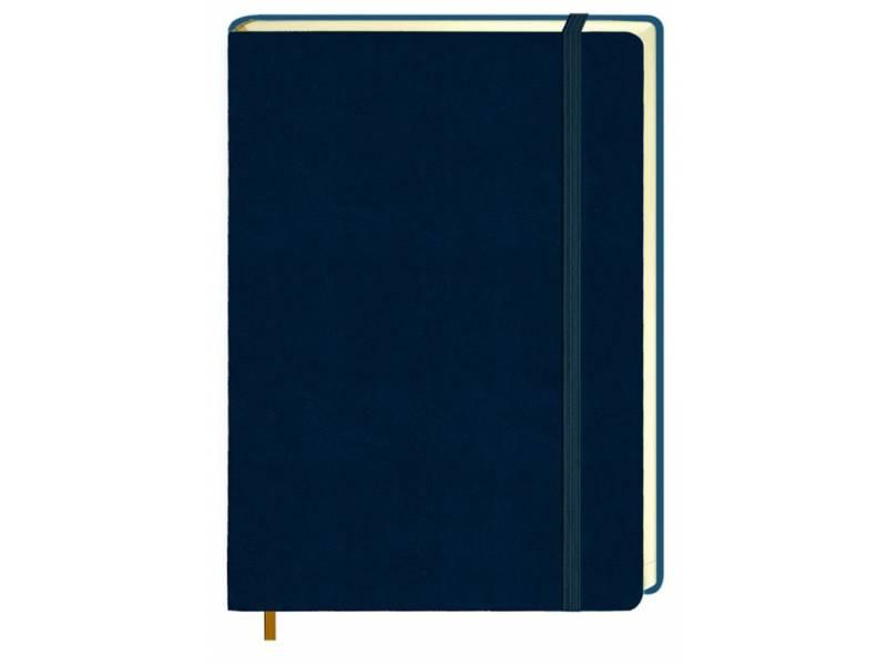 Діловий щоденник Поліграфіст А5 В241/1 шт.шкіра НА ГУМЦІ, м'яка обкл. синій лінія
