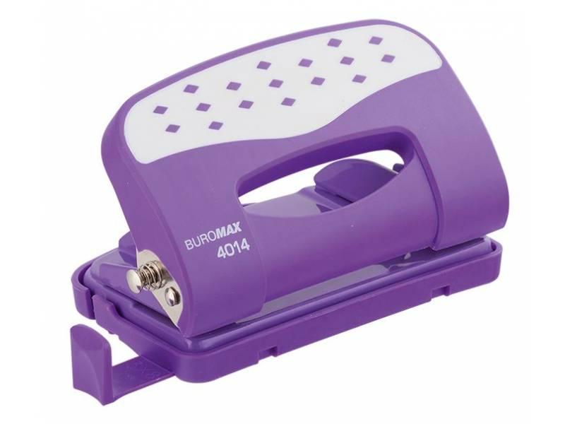 Діркопробивач Buromax (4014) CHESS 12арк. фіолетовий