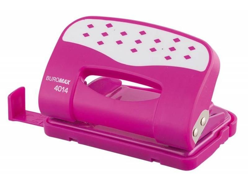 Діркопробивач Buromax (4014) CHESS 12арк. рожевий