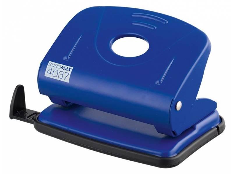 Діркопробивач Buromax (4037) металевий, 20арк. синій