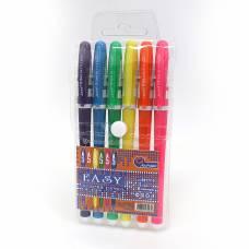 Ручки у наборі гелеві Joseff Otten №777EB 6шт. (КОЛЬОРОВИЙ КОРПУС)