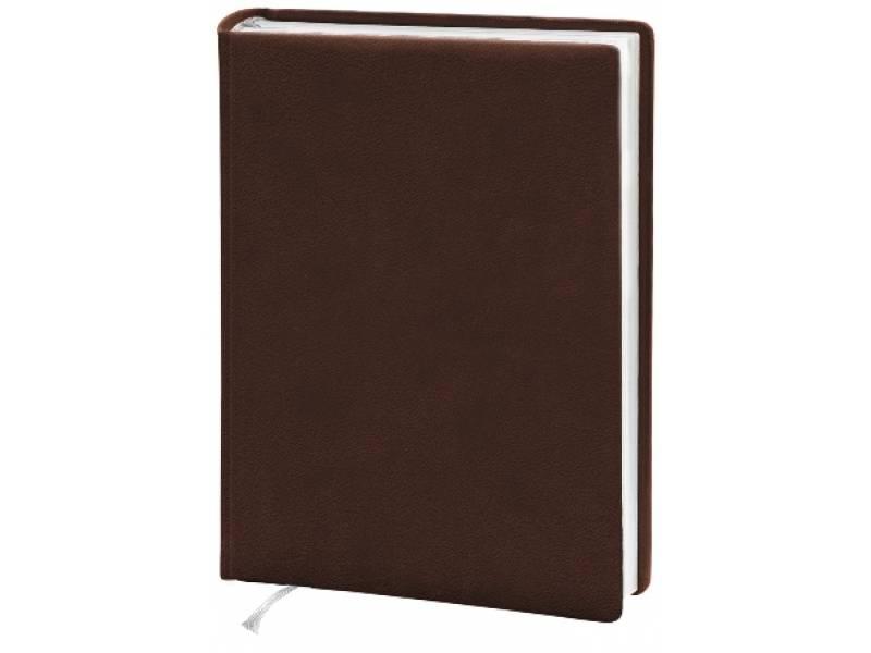 Діловий щоденник Поліграфіст А5 В231 шт. шкіра, коричневий клітинка